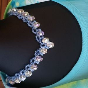 Hand Made Crystal Glass Beaded Necklace & Earrings